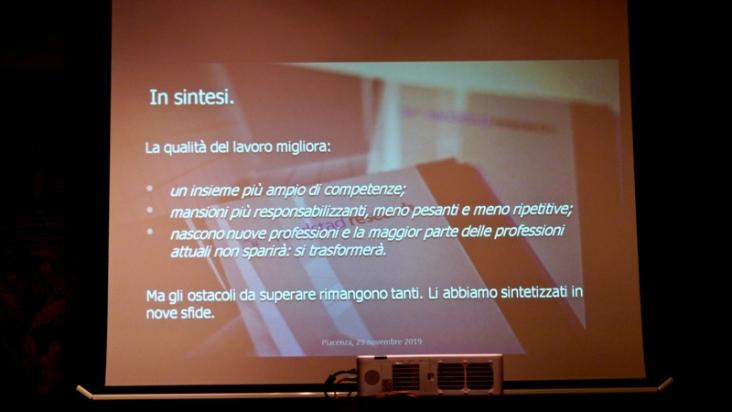 La slide con la sintesi riassuntiva della ricerca